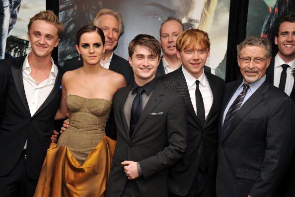 Алан Рикман с коллегами из киносаги о Гарри Поттере