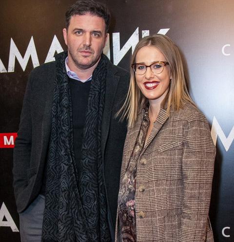 Максим Виторган и Ксения Собчак на премьере фильма «Дама пик»