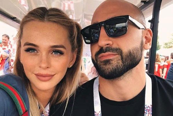 Анна Хилькевич с супругом Артуром Волковым