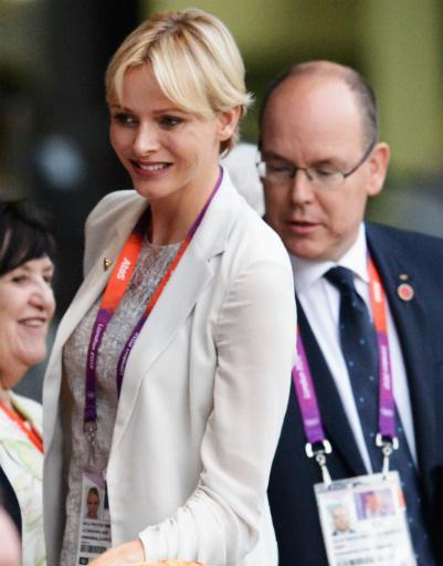 Принц Монако Альберт с принцессой Шарлин также были в числе почетных гостей церемонии