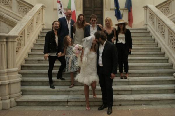 Супруги поженились год назад в Италии