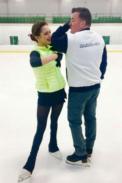 Евгения с новым тренером