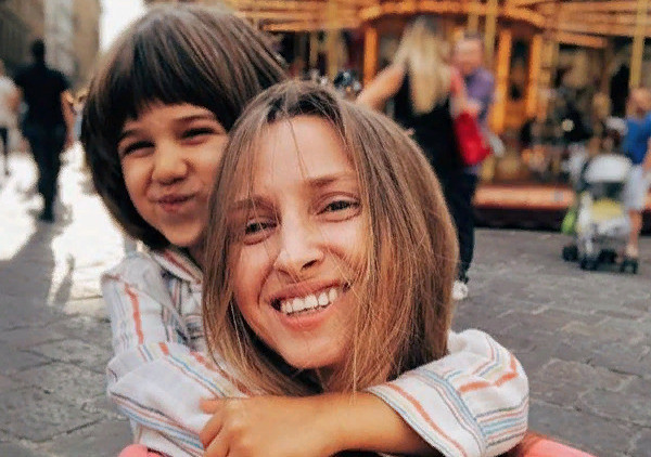 Алена Андреасян со старшим сыном Марком