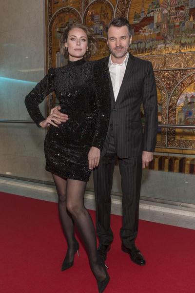 Юлия с мужем, актером Павлом Трубинером
