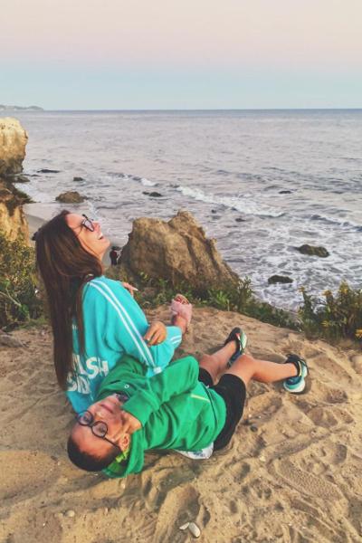 В Лос-Анджелесе Алена отдыхала с сыном