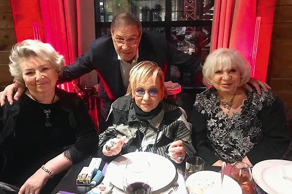 Татьяна Тарасова, Семен Могилевский, Галина Волчек и Алина Редель