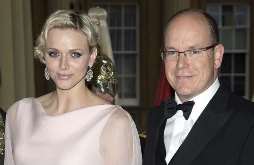 Княгиня Монако Шарлен и принц Альбер