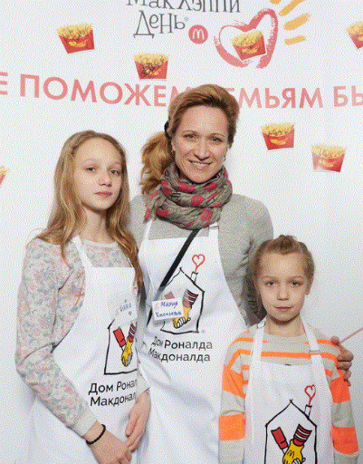 Мария Киселева с дочерьми
