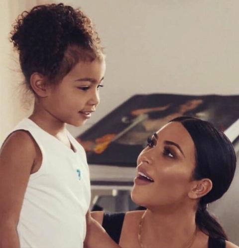 Ким Кардашьян с дочерью Норт Уэст
