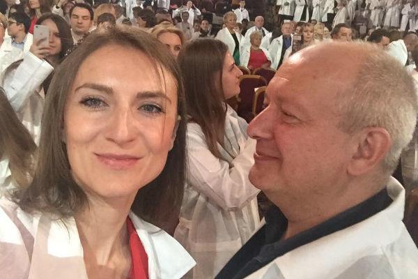 Дмитрий Марьянов с женой Ксенией Бик