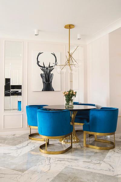 В гостиной, совмещенной с кухней, будут проводиться домашние вечеринки
