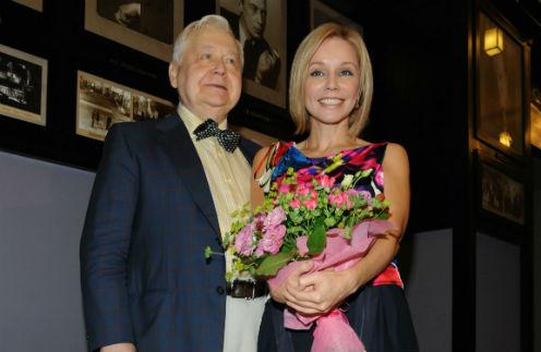 Олег Табаков с супругой Мариной Зудиной