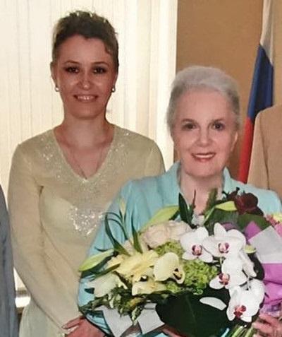 Ксения Рубцова и Элина Быстрицкая