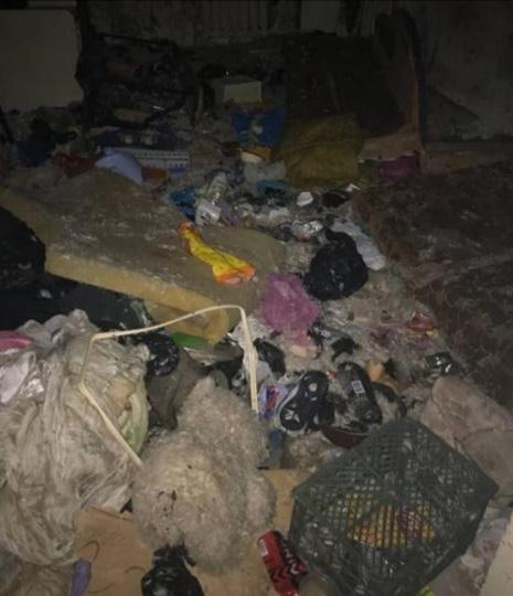 В доме не было ничего, кроме мусора