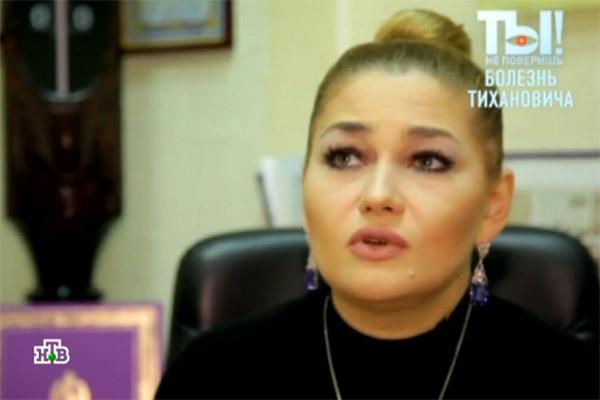 Анастасия Тиханович впервые появилась на публике после кончины отца