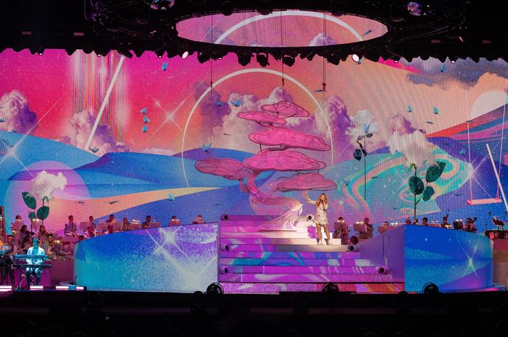 Шоу прошло с участием симфонического оркестра