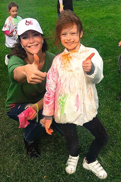 Александра с дочерью Евой
