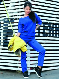 На певице Бьянке одежда Esprit: Кофта, 2999 руб. Брюки, 2999 руб. Жилетка, 4499 руб. Кеды River Island, 1999 руб.