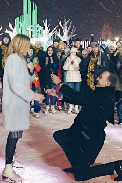 Андрей сделал предложение Юлианне во время съемок новогоднего шоу