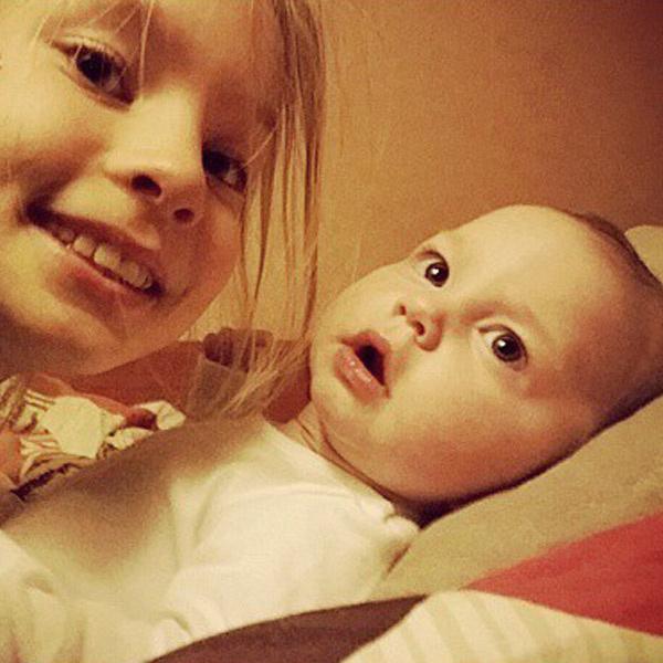 По словам певца, маленькая Агата уже делает первые успехи