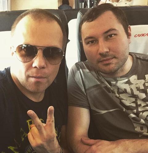 DJ Грув с концертным директором Денисом Калининым