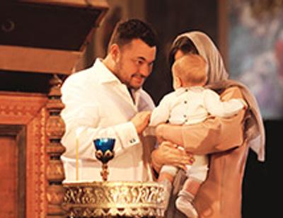 Сергей Жуков крестил младшего сына в монастыре