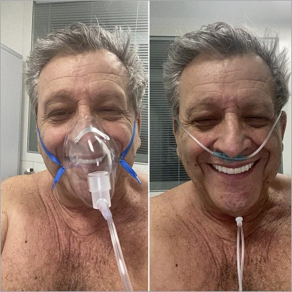 Даже из больницы режиссер отправлял позитивные снимки близким и друзьям
