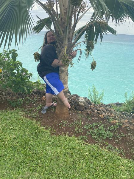 Снимок с пальмой на отдыхе - всегда маст-хэв