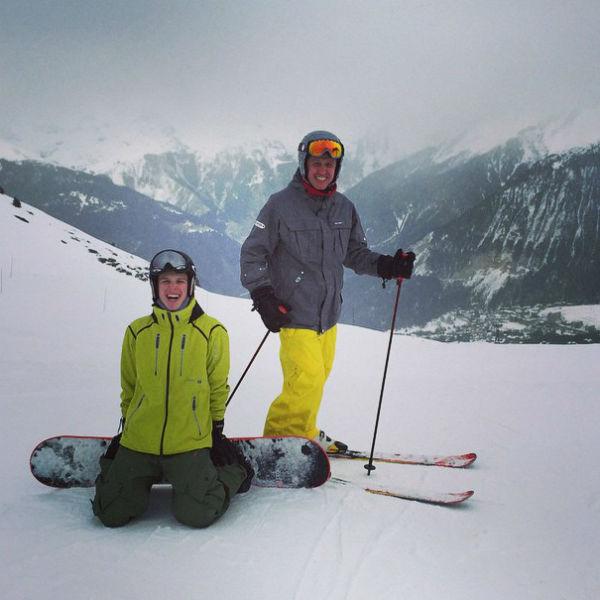 Игорь с сыном Гришей любят вместе кататься на горных трассах Куршевеля