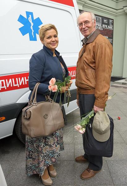 Борис Плотников на съемках с Ириной Пеговой