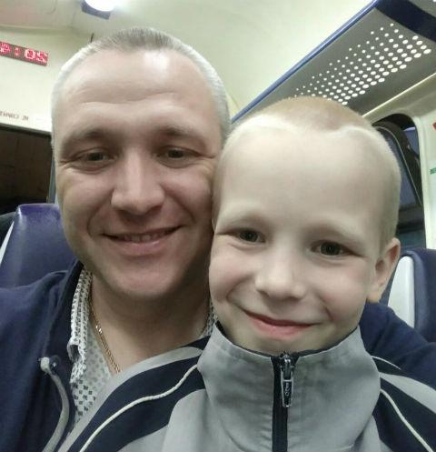 Алеша Шимко с отцом