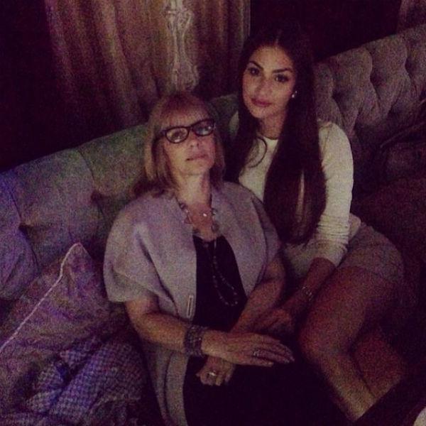 Вера Глаголева с младшей дочерью Настей
