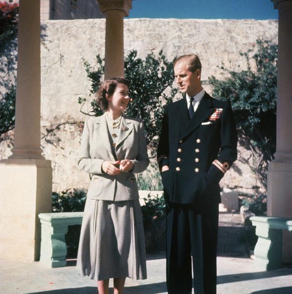 Королева Елизавета и ее супруг принц Филипп, 1947 год
