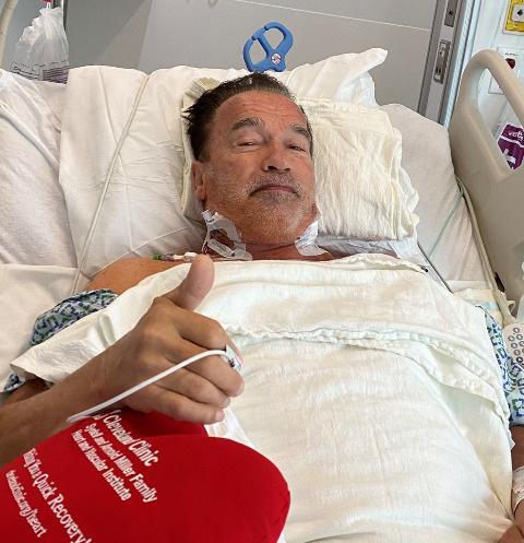 Арнольд Шварценеггер перенес новую операцию на сердце — фото из больницы