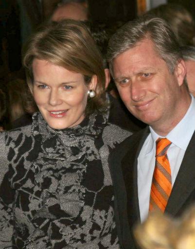 Бельгийский принц Филипп и его супруга принцесса Матильда