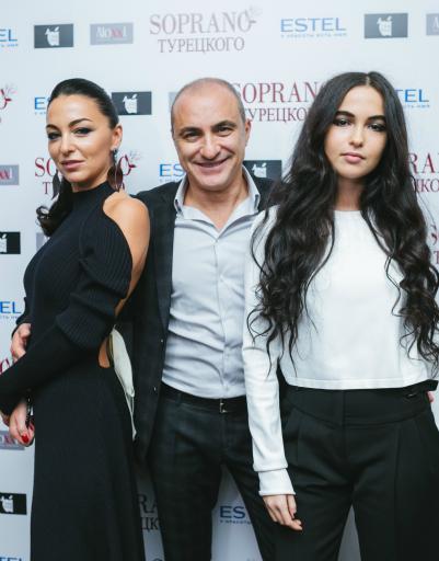 Михаил Турецкий с супругой Лианой и дочерью Сариной