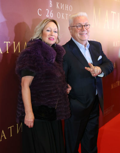 Владимир Винокур с супругой