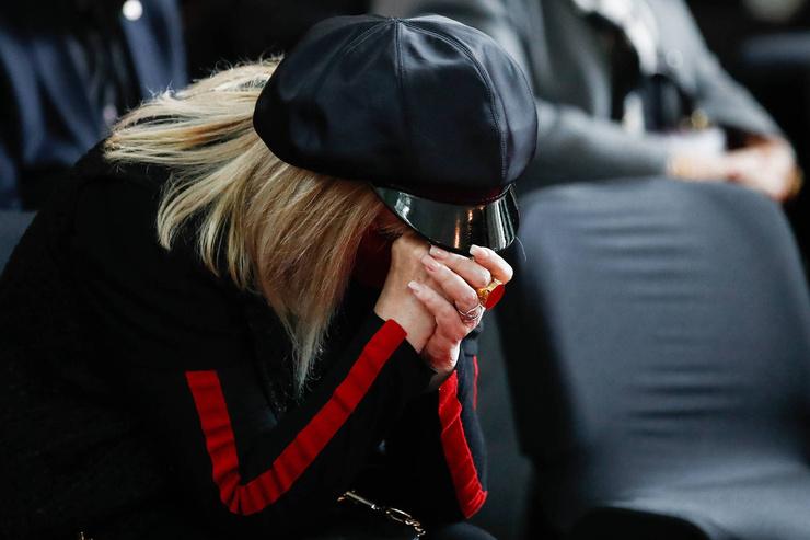 На траурной церемонии Примадонна не сдерживала слезы