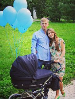 Тимофей и Анна с сыном