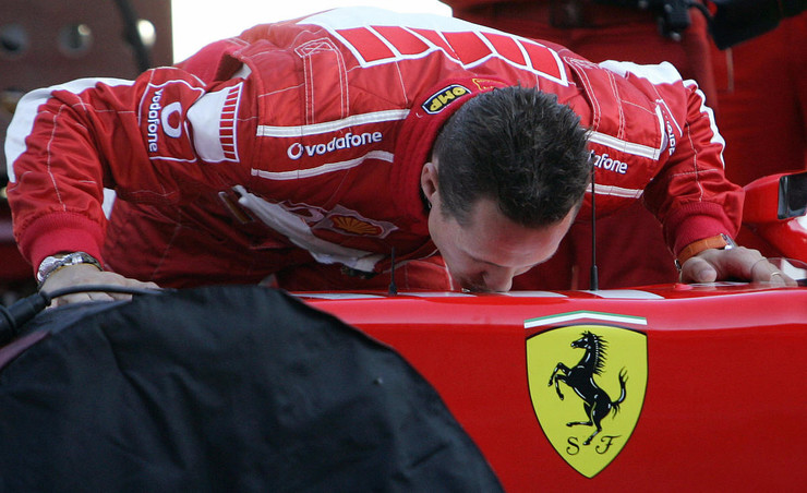 Михаэль Шумахер вывел команду Ferrari на новый уровень