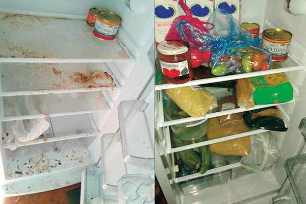 Раньше в холодильнике полковника были только паста и консервы, теперь в нем много продуктов