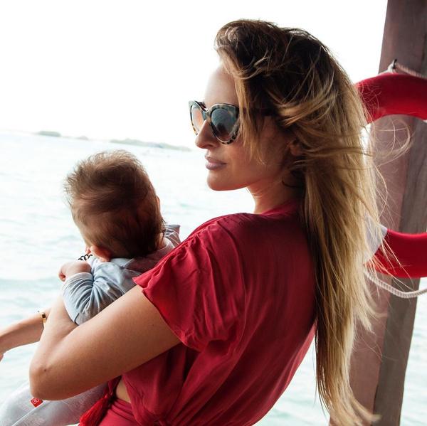 Софья вместе с сыном