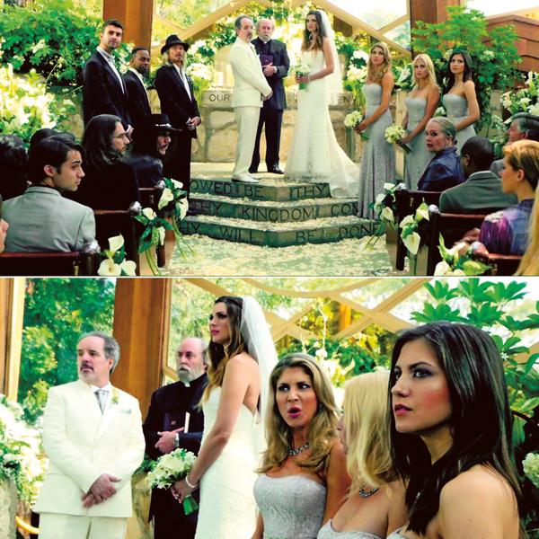 В роли подружки невесты (крайняя справа) в сериале «Люцифер» в 2015 году