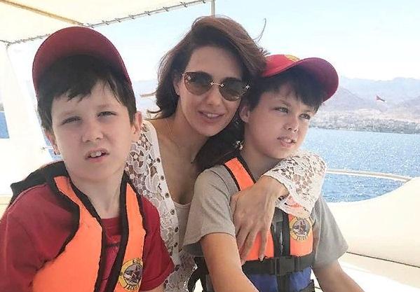 Сыновья актрисы — Корней и Матвей