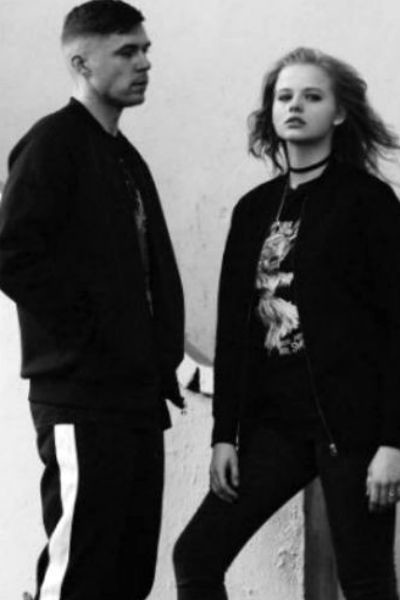 Александра Бортич с мужем