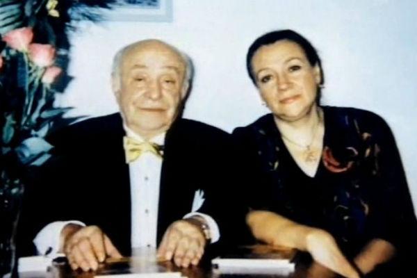 Ролан Быков с супругой
