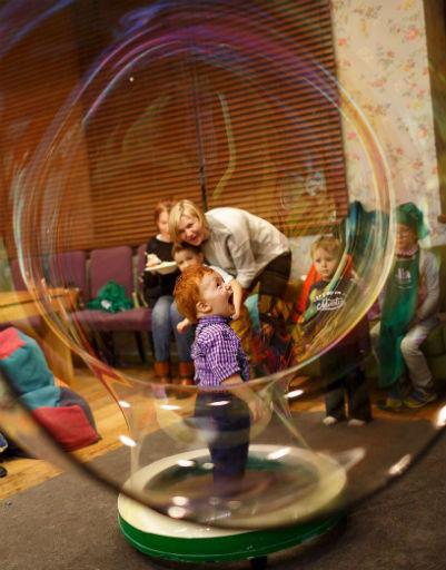 Дети остались в восторге от развлечений
