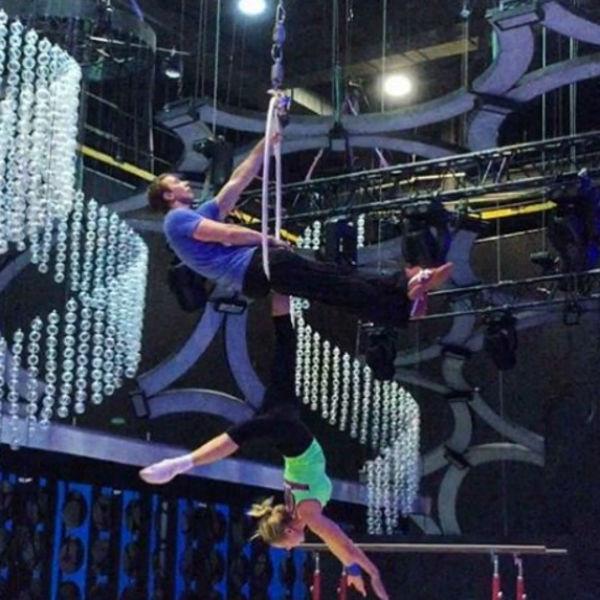 Мария Кожевникова на репетиции шоу «Без страховки»