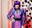 Юлия Барановская примерила фиолетовый парик