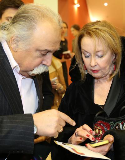 Актриса Лариса Удовиченко на вручении премии «Ника»